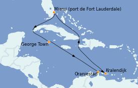 Itinéraire de la croisière Caraïbes de l'Est 10 jours à bord du Celebrity Equinox