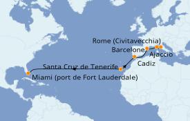 Itinéraire de la croisière Méditerranée 15 jours à bord du Discovery Princess