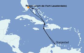 Itinéraire de la croisière Caraïbes de l'Est 9 jours à bord du Odyssey of the Seas