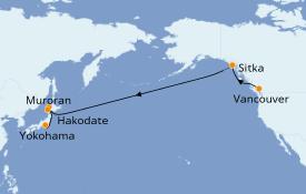 Itinéraire de la croisière Transatlantiques et Grands Voyages 2021 17 jours à bord du Celebrity Solstice