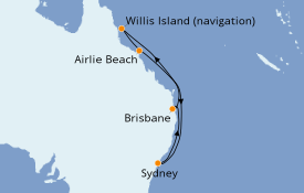 Itinéraire de la croisière Australie 2019 9 jours à bord du Voyager of the Seas