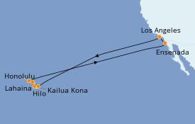 Itinéraire de la croisière Hawaii 16 jours à bord du Celebrity Eclipse