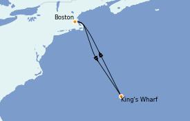 Itinéraire de la croisière Canada 5 jours à bord du Norwegian Pearl