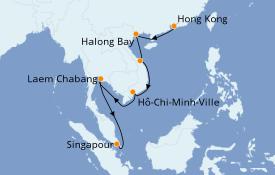 Itinéraire de la croisière Asie 14 jours à bord du Silver Muse