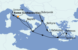 Itinerario de crucero Grecia y Adriático 11 días a bordo del Norwegian Getaway