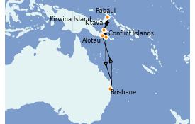 Itinéraire de la croisière Australie 2021 12 jours à bord du Coral Princess