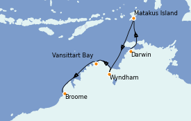 Itinéraire de la croisière Australie 2021 11 jours à bord du Silver Explorer