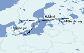 Itinéraire de la croisière Mer Baltique 5 jours à bord du Enchanted Princess