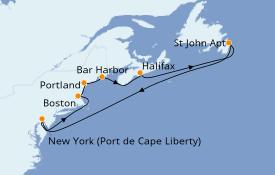 Itinéraire de la croisière Canada 10 jours à bord du Freedom of the Seas