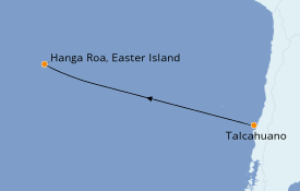 Itinéraire de la croisière Amérique du Sud 8 jours à bord du Le Soléal