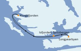 Itinéraire de la croisière Exploration polaire 8 jours à bord du Le Boréal