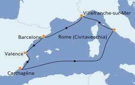 Itinéraire de la croisière Méditerranée 7 jours à bord du Explorer of the Seas