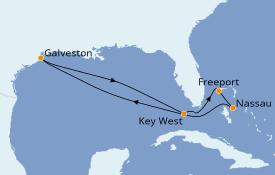 Itinéraire de la croisière Bahamas 8 jours à bord du Carnival Dream