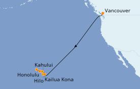 Itinéraire de la croisière Hawaii 12 jours à bord du Norwegian Jewel