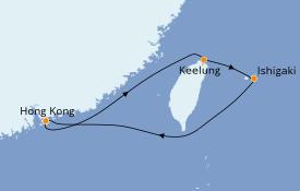Itinéraire de la croisière Asie 6 jours à bord du Norwegian Spirit