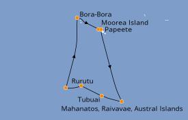 Itinéraire de la croisière Polynésie 10 jours à bord du Le Soléal