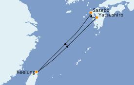 Itinéraire de la croisière Asie 6 jours à bord du Majestic Princess