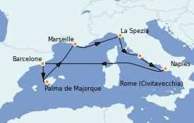 Itinéraire de la croisière Méditerranée 8 jours à bord du Allure of the Seas