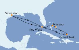 Itinéraire de la croisière Bahamas 10 jours à bord du Carnival Radiance