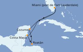 Itinéraire de la croisière Caraïbes de l'Ouest 7 jours à bord du Allure of the Seas