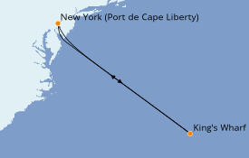 Itinéraire de la croisière Bahamas 6 jours à bord du Adventure of the Seas