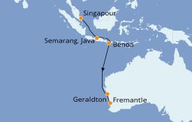 Itinéraire de la croisière Australie 2020 13 jours à bord du Azamara Pursuit