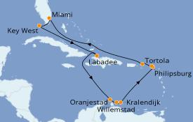 Itinéraire de la croisière Transatlantiques et Grands Voyages 2021 15 jours à bord du Azamara Quest
