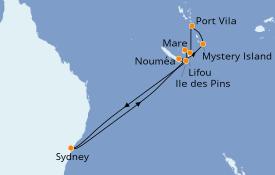 Itinéraire de la croisière Australie 2020 12 jours à bord du Voyager of the Seas