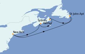 Itinerario de crucero Canadá 8 días a bordo del Carnival Magic