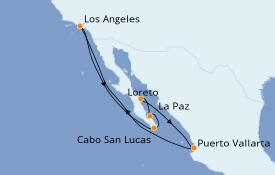 Itinéraire de la croisière Riviera Mexicaine 11 jours à bord du Grand Princess