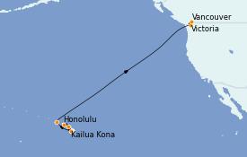 Itinéraire de la croisière Hawaii 14 jours à bord du Quantum of the Seas