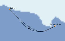 Itinéraire de la croisière Méditerranée 3 jours à bord du Club Med 2