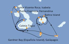 Itinerario de crucero Islas Galápagos 11 días a bordo del Silver Origin