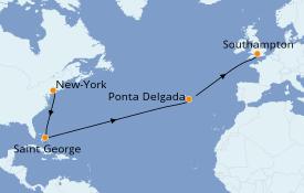 Itinéraire de la croisière Bahamas 13 jours à bord du Seven Seas Navigator