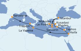 Itinéraire de la croisière Grèce & Adriatique 16 jours à bord du Seven Seas Voyager