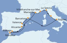 Itinéraire de la croisière Méditerranée 13 jours à bord du Celebrity Silhouette
