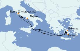 Itinerario de crucero Mediterráneo 7 días a bordo del Odyssey of the Seas