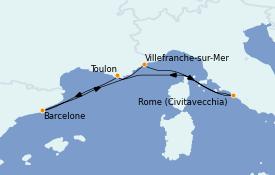 Itinerario de crucero Mediterráneo 6 días a bordo del Vision of the Seas