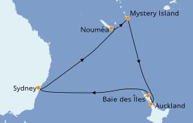 Itinéraire de la croisière Australie 2019 12 jours à bord du Ovation of the Seas