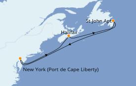 Itinéraire de la croisière Canada 6 jours à bord du Oasis of the Seas