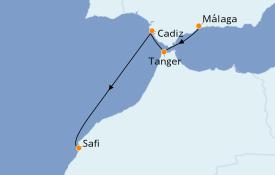 Itinéraire de la croisière Méditerranée 9 jours à bord du Star Flyer