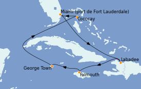 Itinerario de crucero Caribe del Oeste 8 días a bordo del Odyssey of the Seas