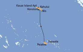 Itinéraire de la croisière Hawaii 13 jours à bord du Norwegian Spirit
