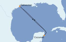 Itinéraire de la croisière Caraïbes de l'Ouest 5 jours à bord du Carnival Dream