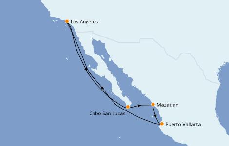 Itinéraire de la croisière Riviera Mexicaine 7 jours à bord du Majestic Princess