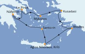 Itinéraire de la croisière Grèce & Adriatique 8 jours à bord du Silver Spirit