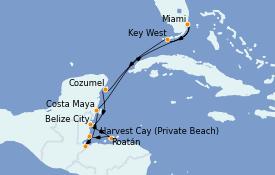 Itinerario de crucero Caribe del Oeste 11 días a bordo del Seven Seas Explorer