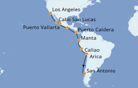 Itinéraire de la croisière Riviera Mexicaine 17 jours à bord du Celebrity Eclipse