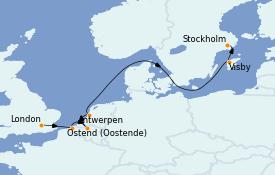 Itinerario de crucero Mar Báltico 10 días a bordo del Le Champlain