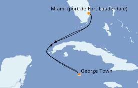 Itinéraire de la croisière Caraïbes de l'Ouest 5 jours à bord du Celebrity Millennium